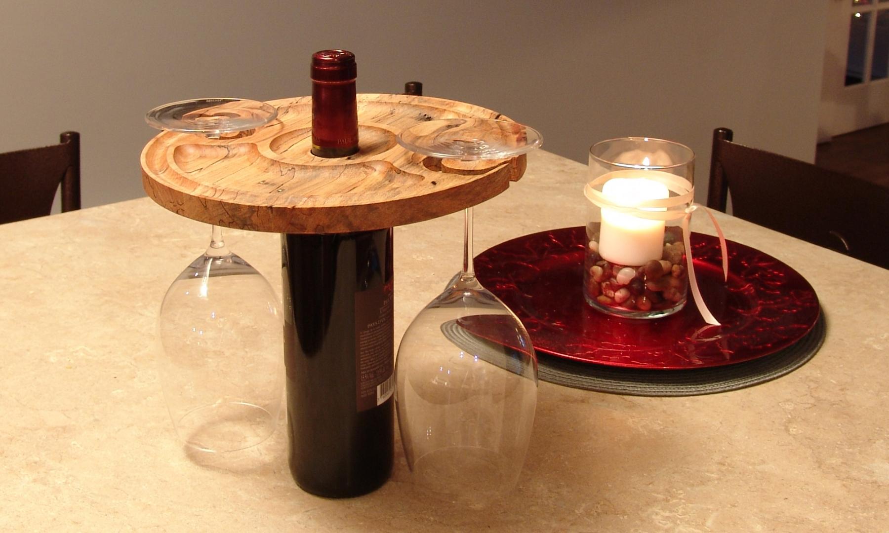 Support de verre à vin pour bouteille de vin - prise 2