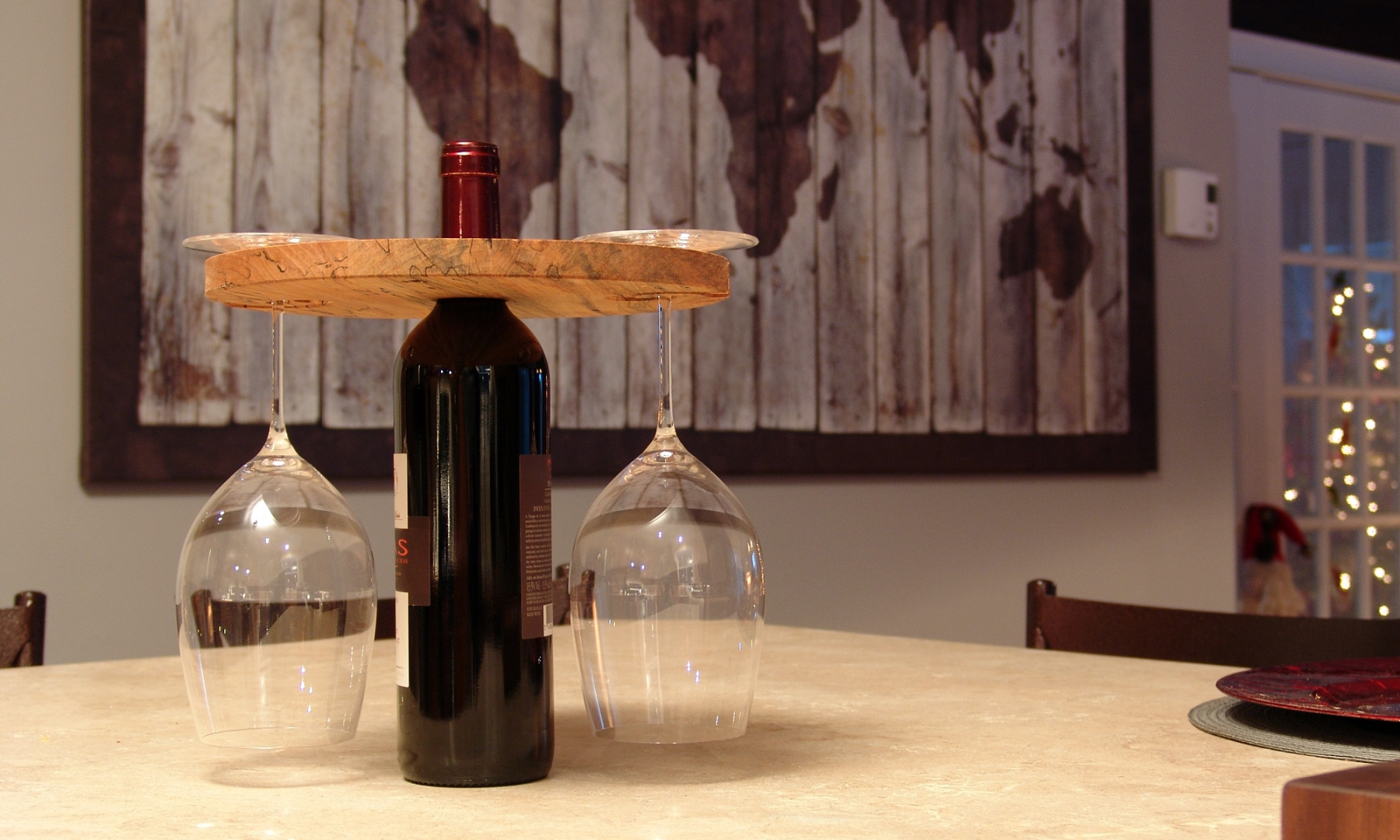 Support de verre à vin pour bouteille de vin - prise 3
